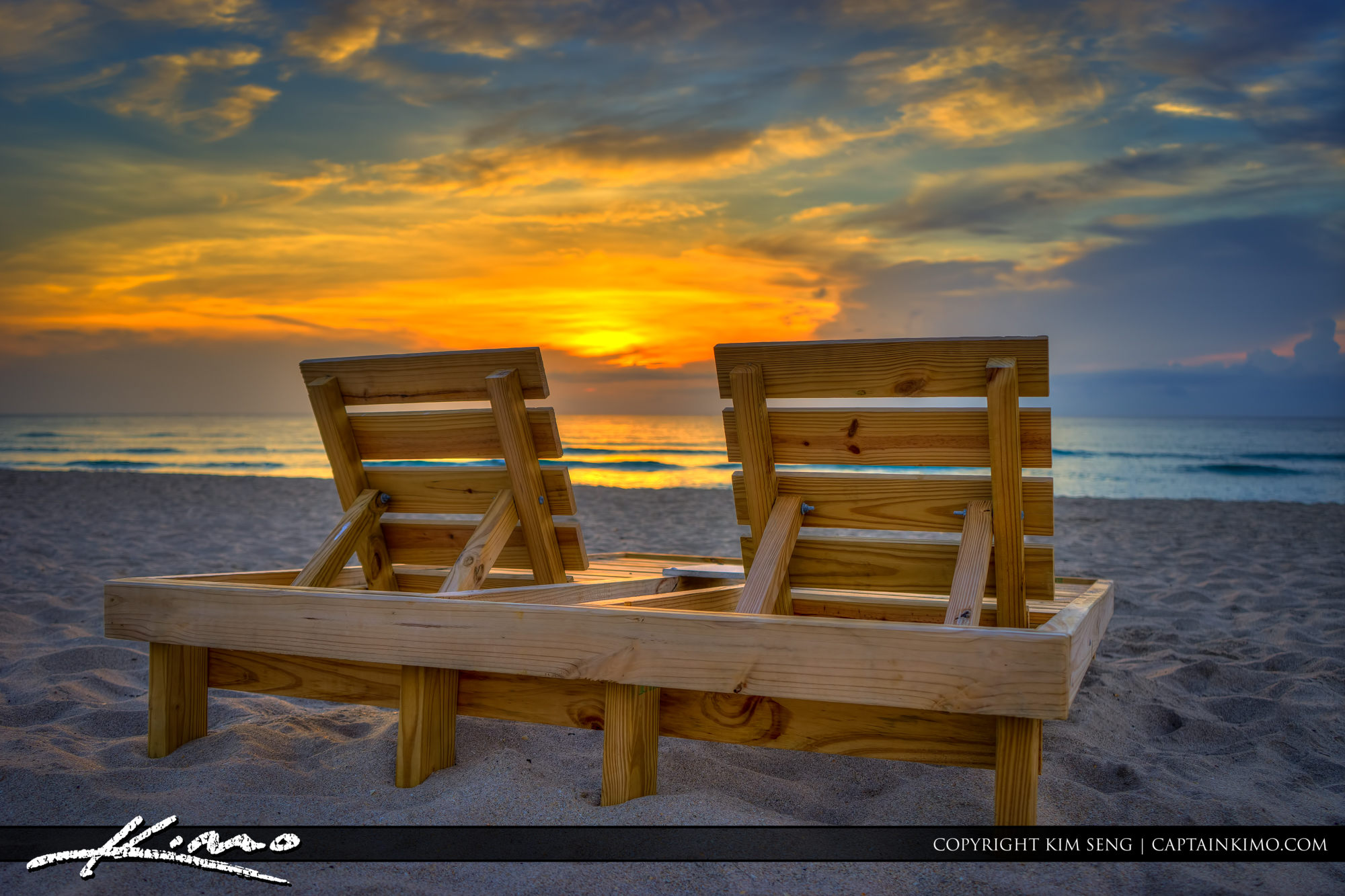 Beach Chairs at Lake Worth Beach for Sunrise