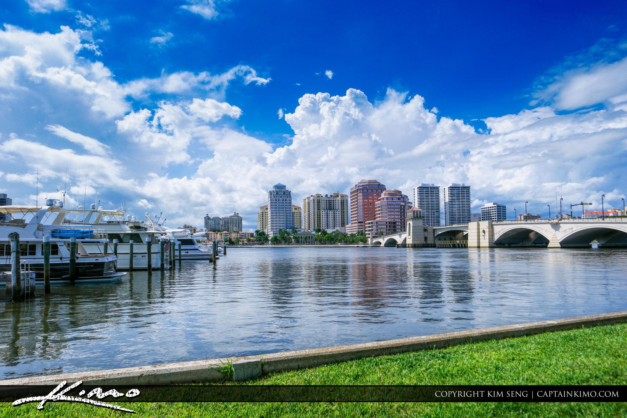 Blue Sky West Palm Beach Skyline