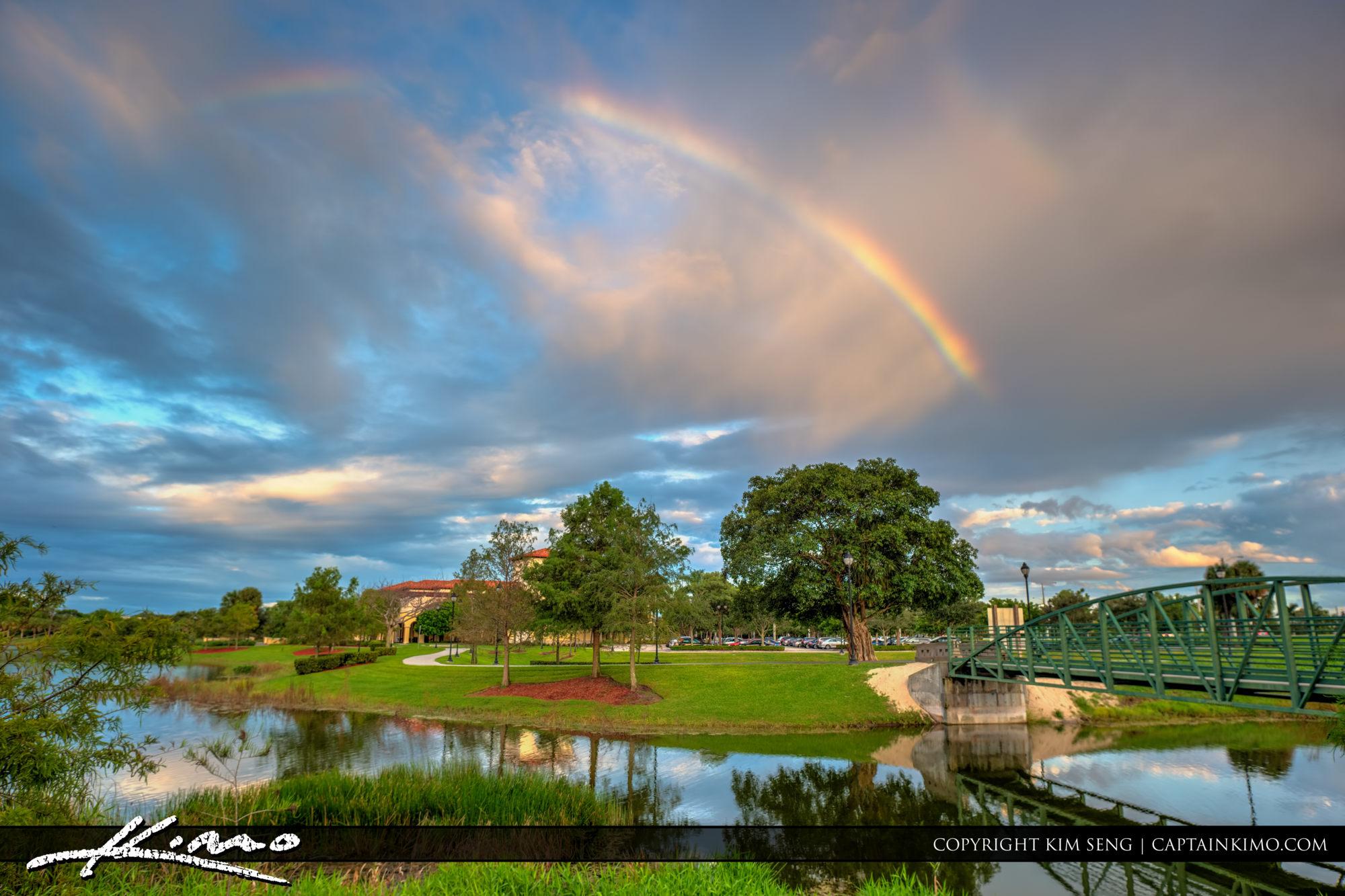 Boca Raton Spanish River Library Rainbow