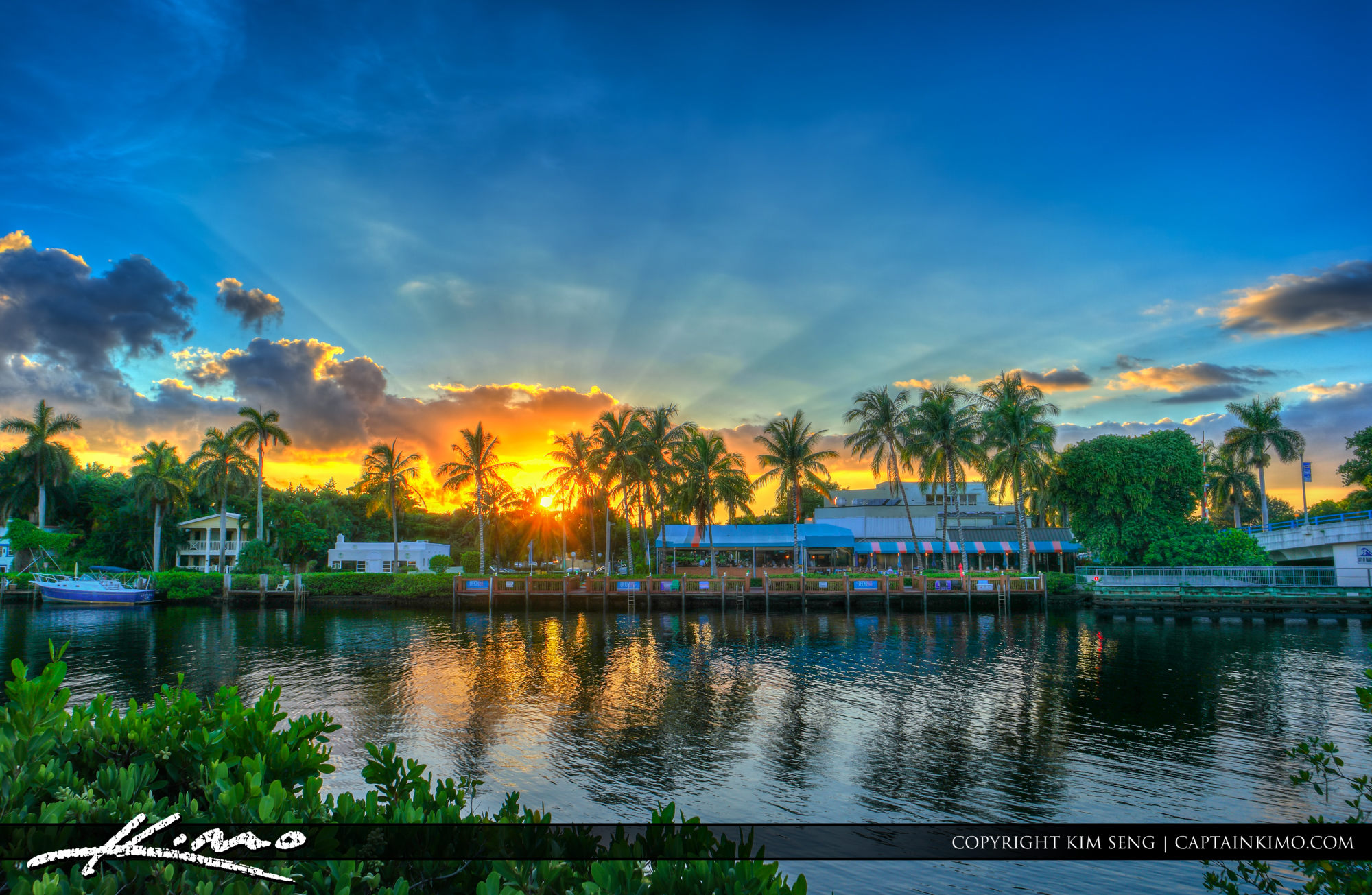 Delray Beach Downtown Sunset at Waterway