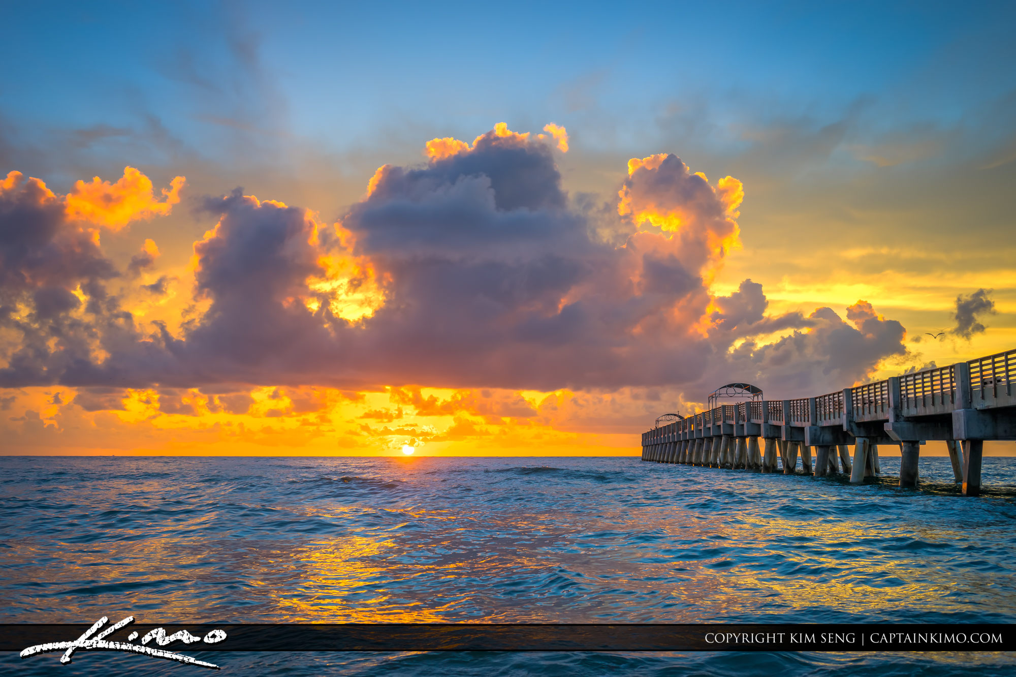 Lake Worth Fishing Pier Sunrise Over Atlantic Ocean