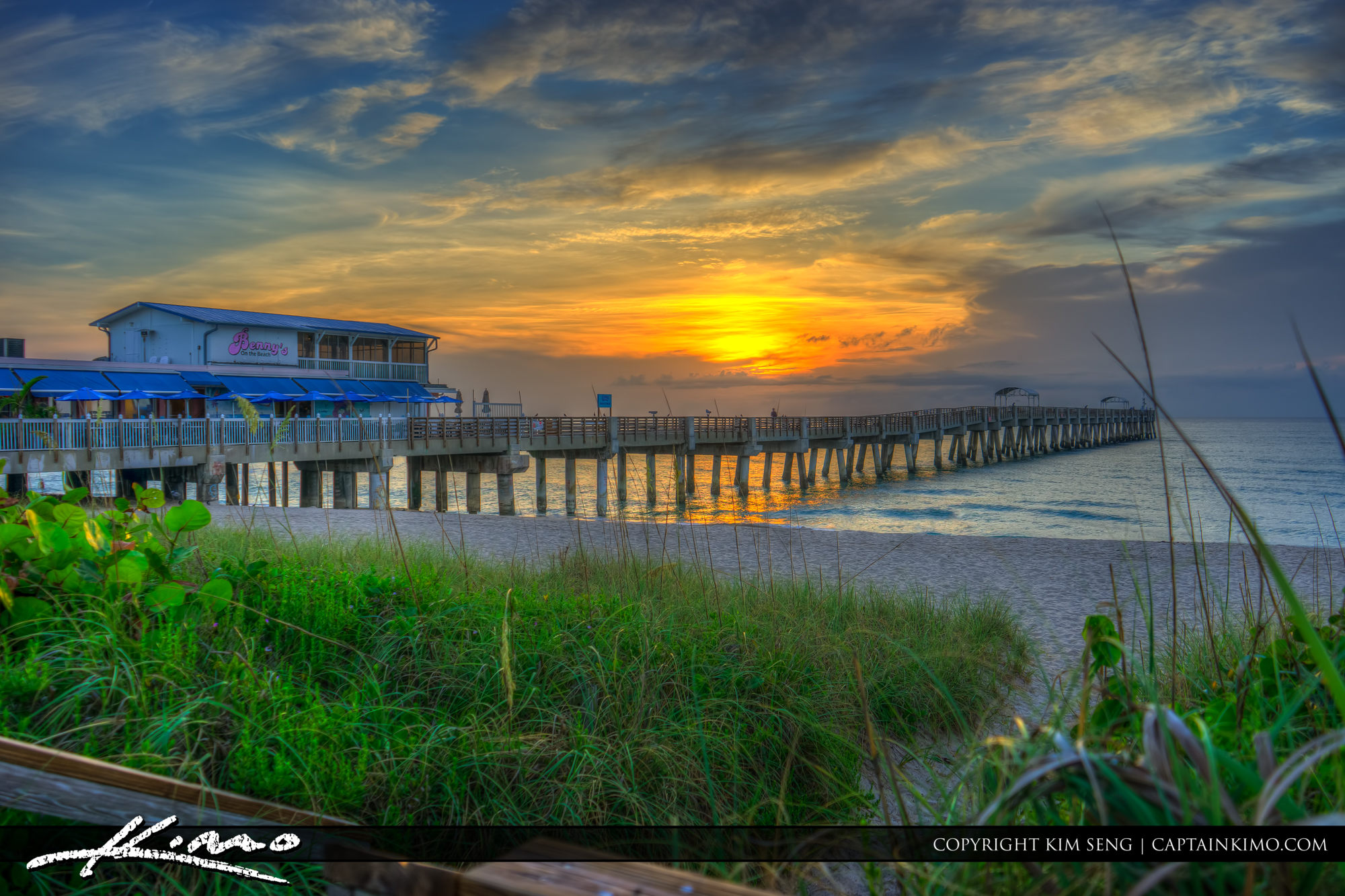 Lake Worth Pier Sunrise Over the Beach