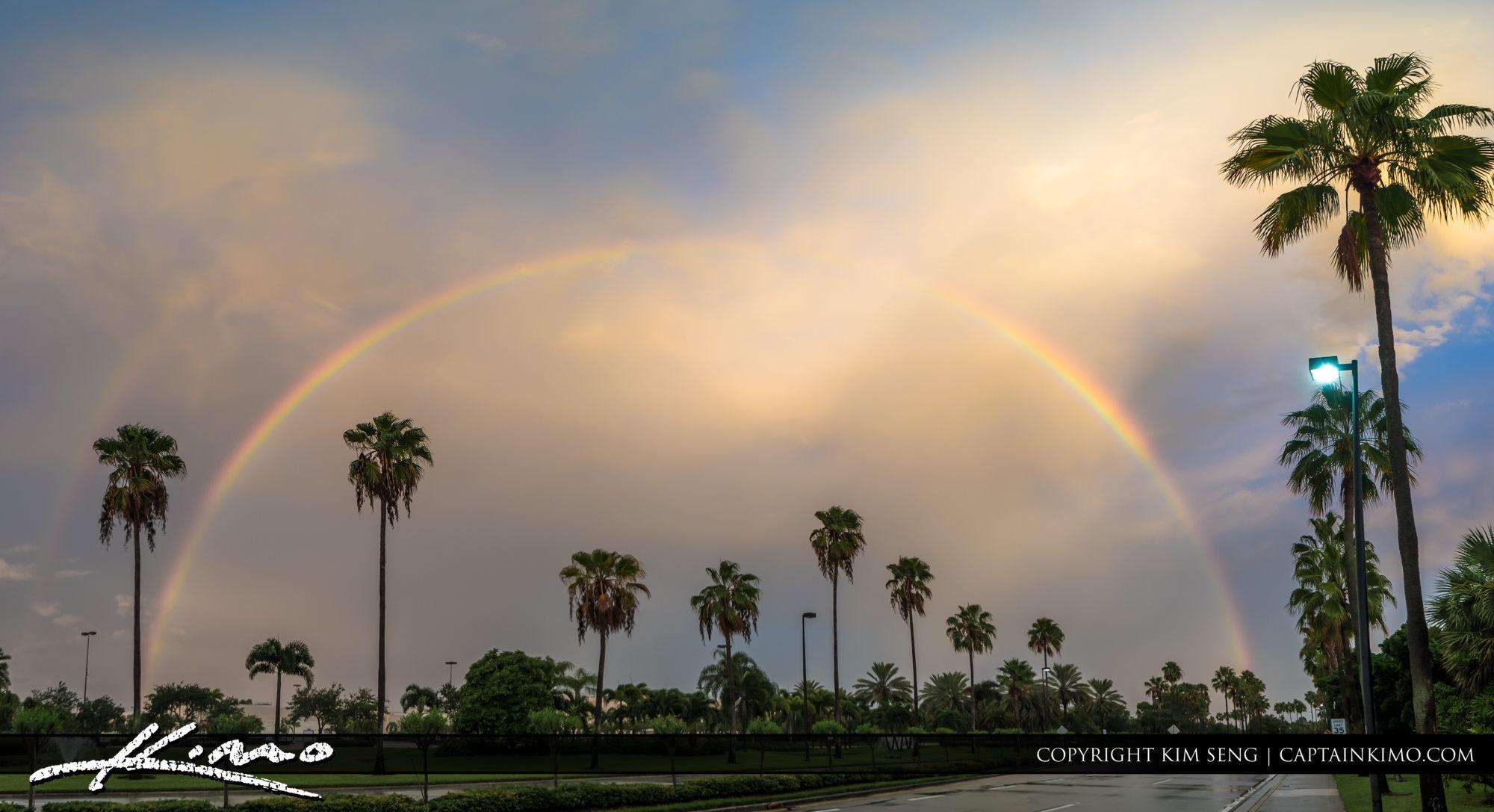 Rainbow Over the Gardens Mall Palm Beach Gardens Florida