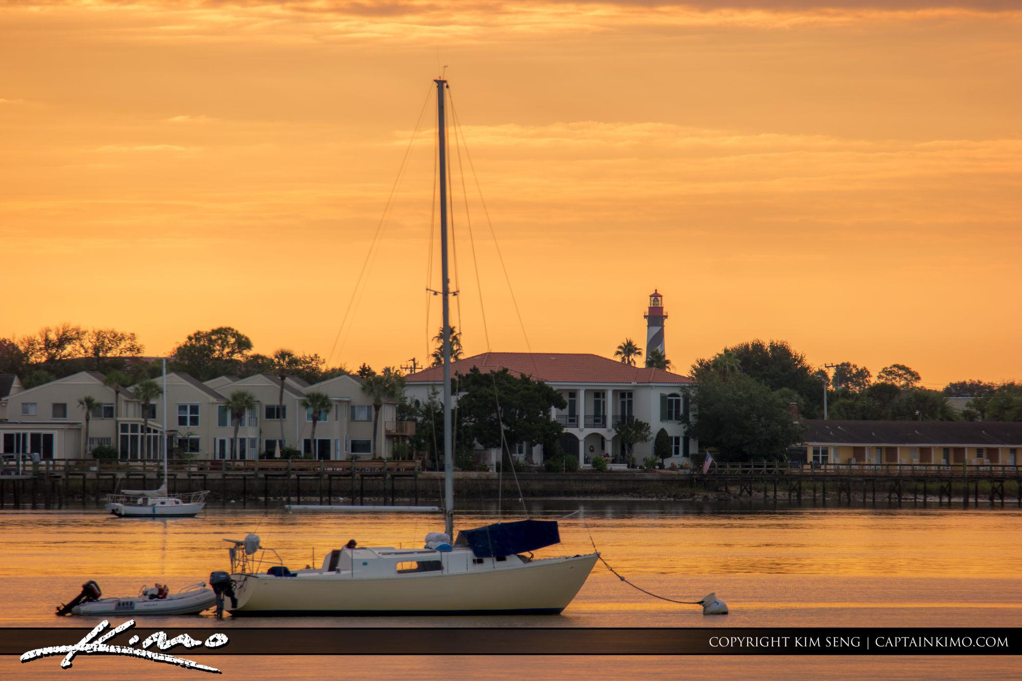 St. Augustine Lighthouse Along Matanzas River