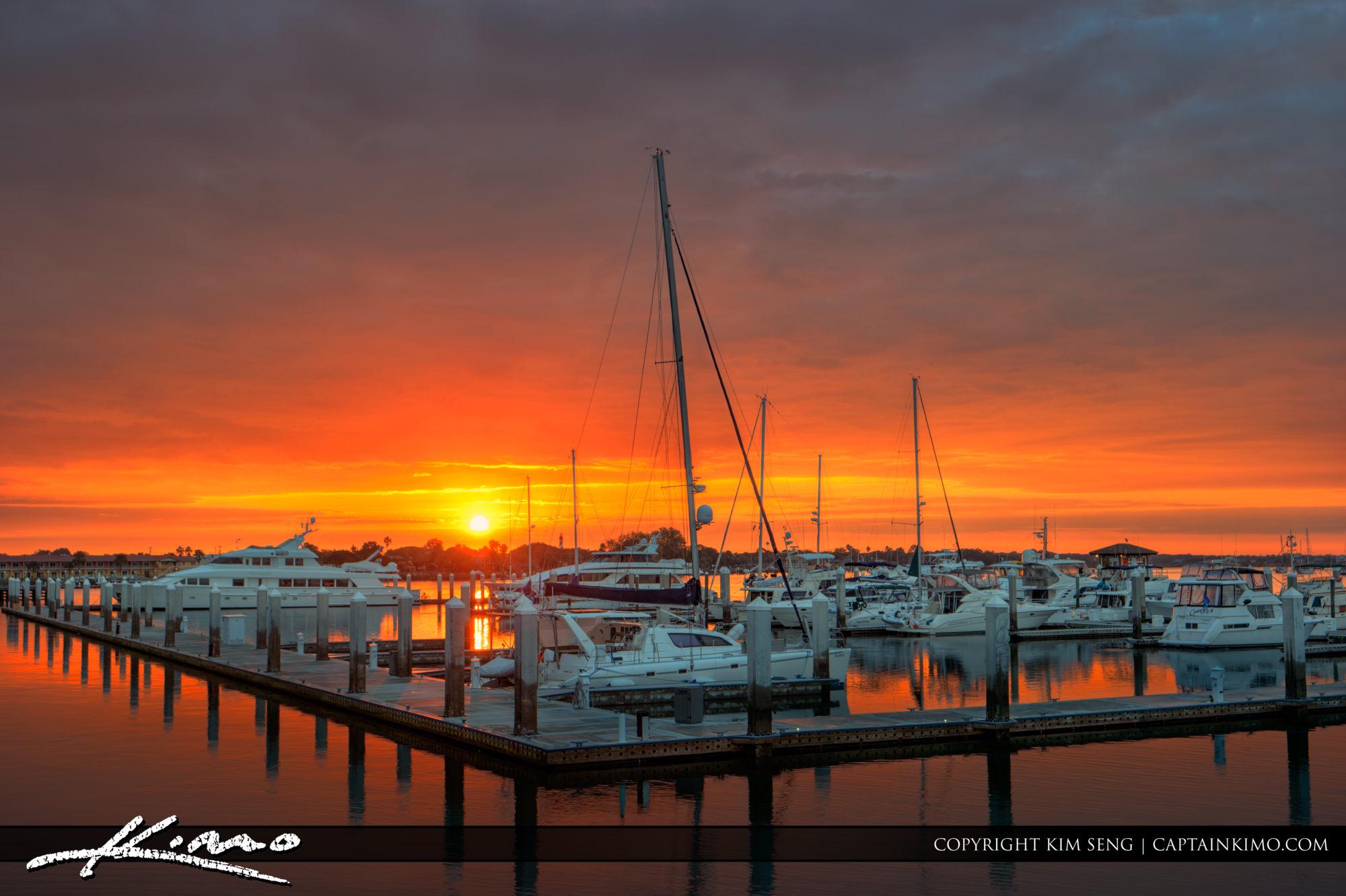 St Augustine Municipal Marina Sunrise