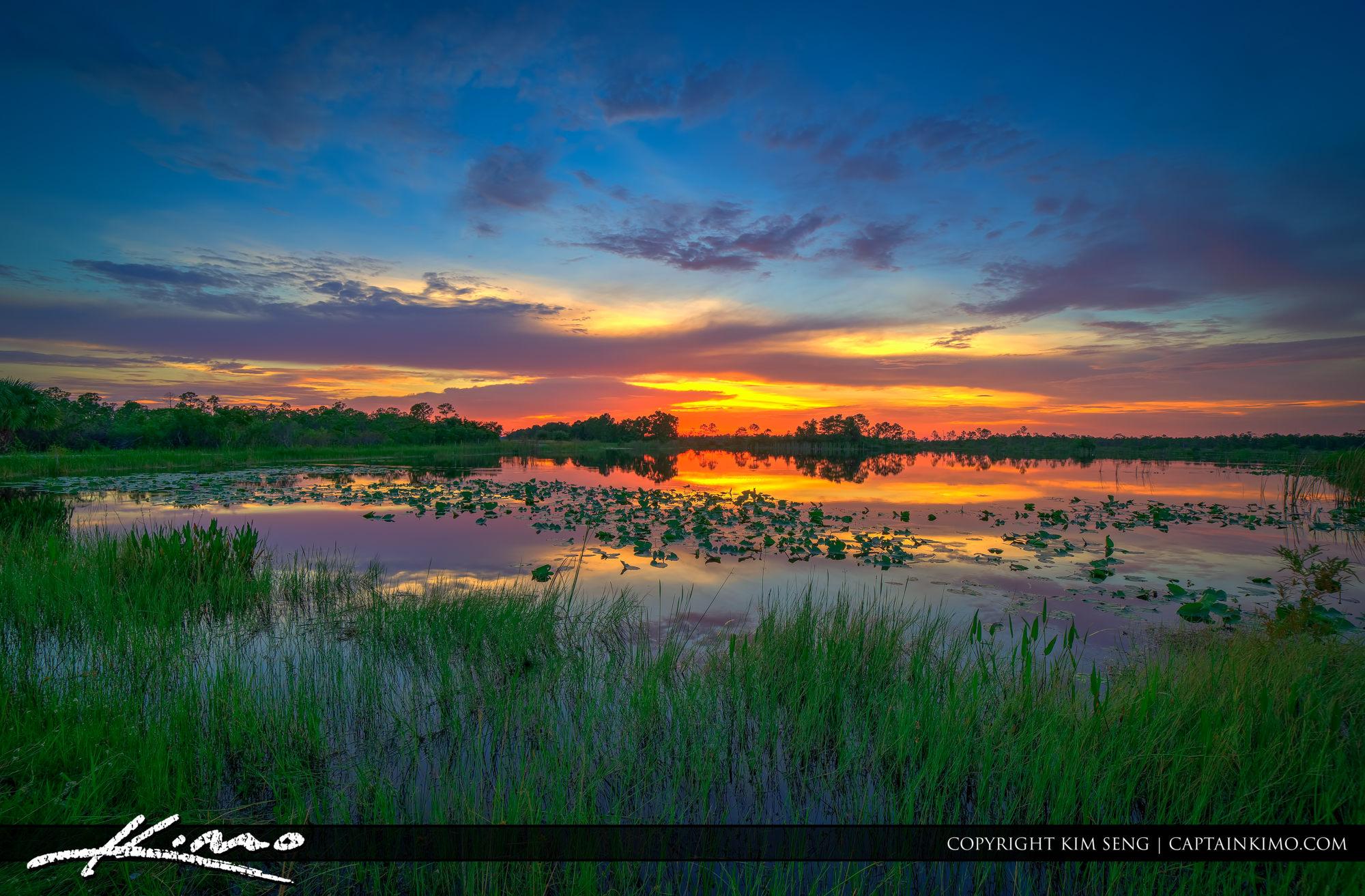 Sunset at Lake Martin County Florida Stuart
