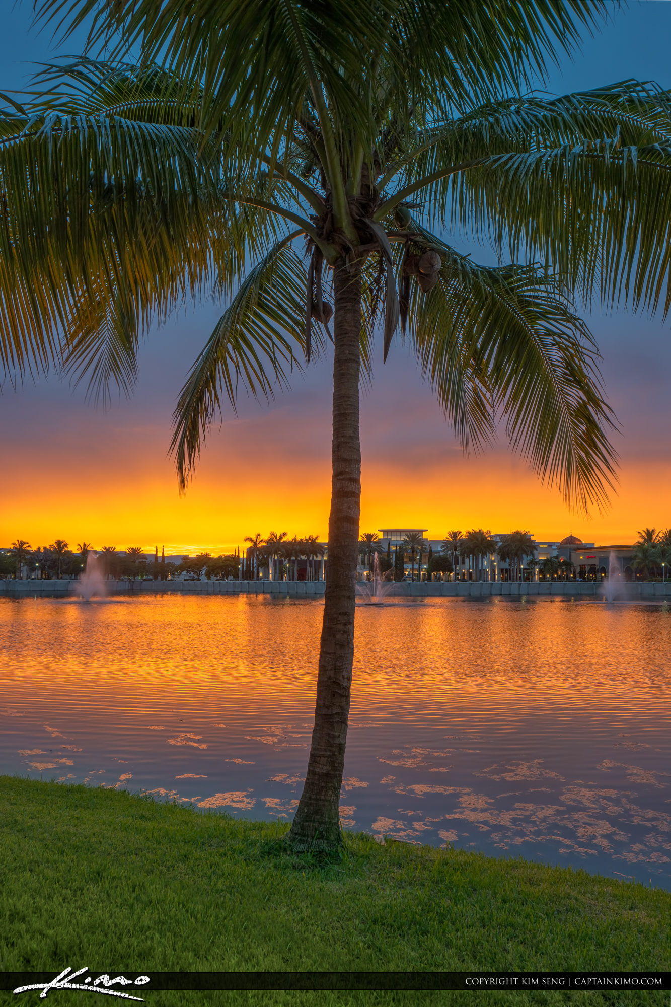 Sunset at the Lake Palm Beach Gardens Downtown