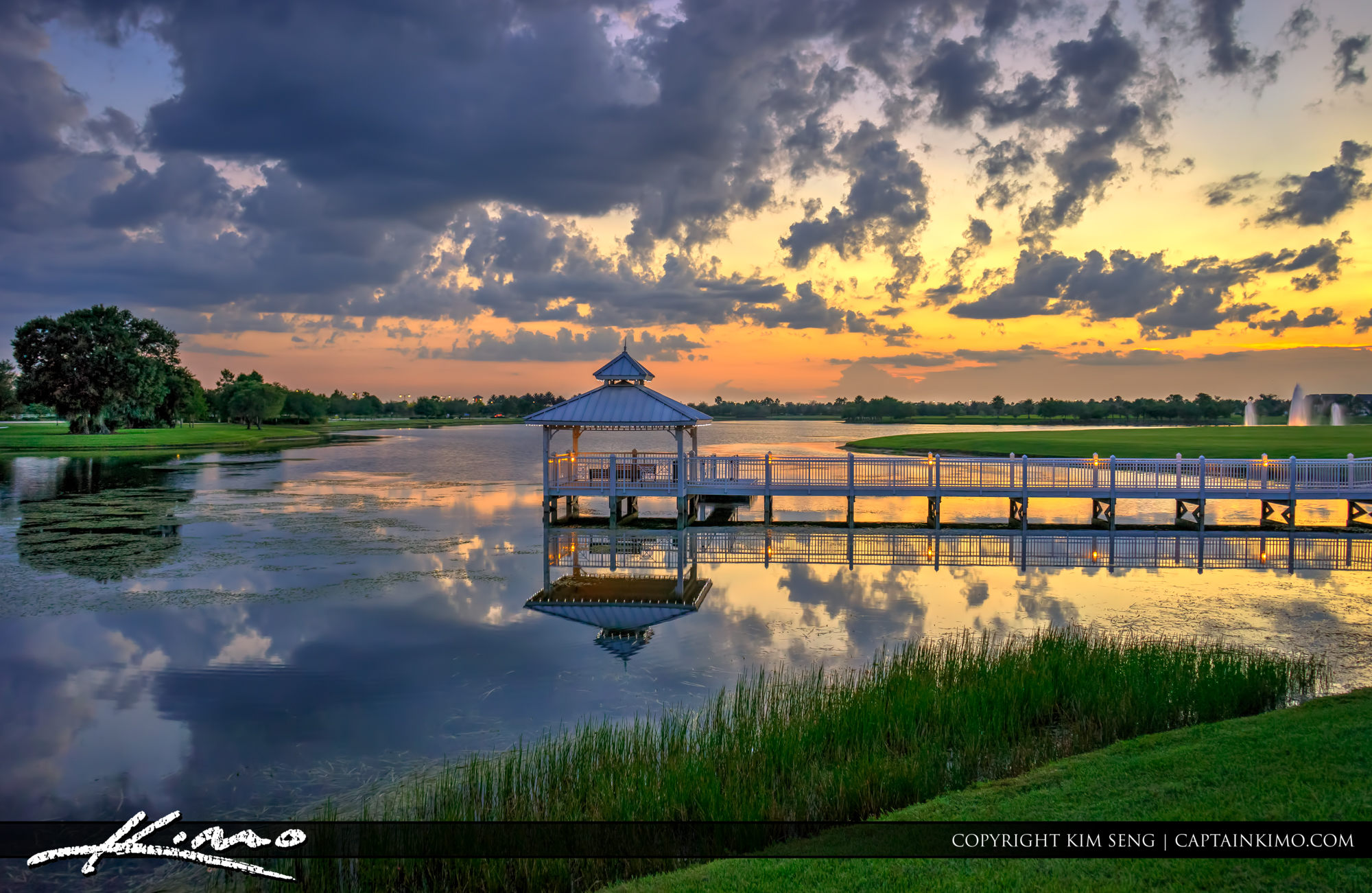 Tradition Lake Port St Lucie Florida Sunset