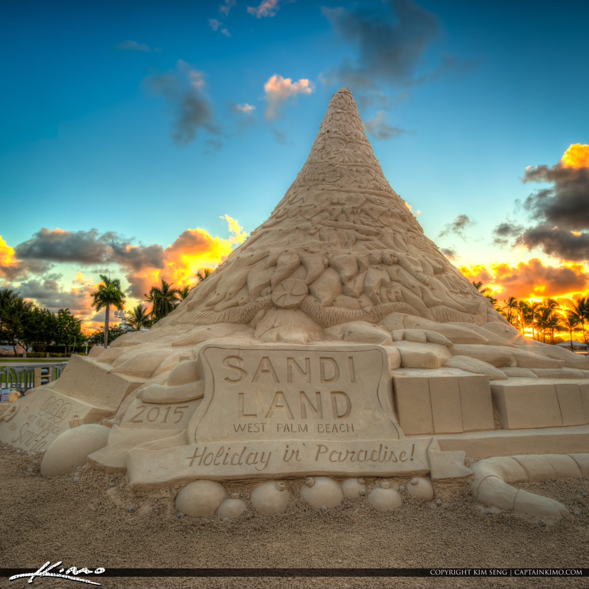 Sandi Christmas Tree Sand Castle West Palm Beach 2015