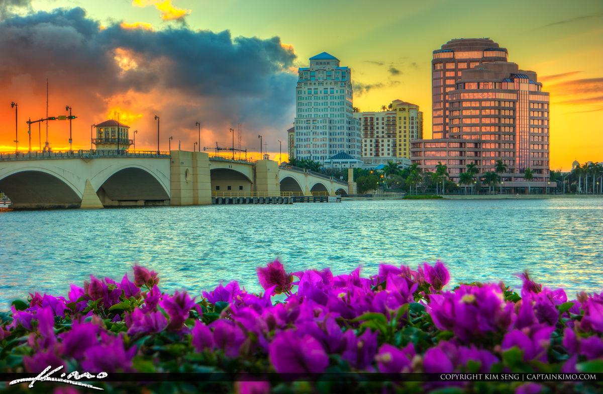 West Palm Beach City Sunset