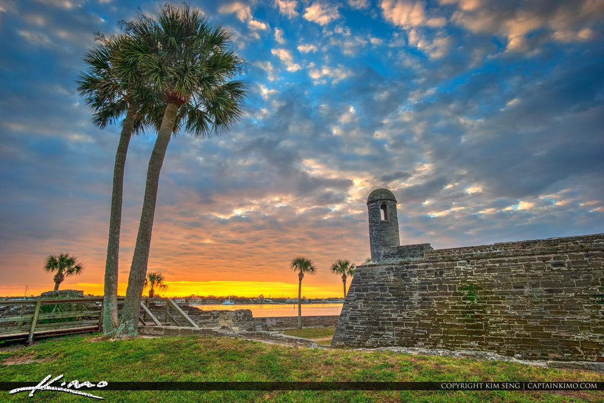 Castillo de San Marcos National Monument Sunrise