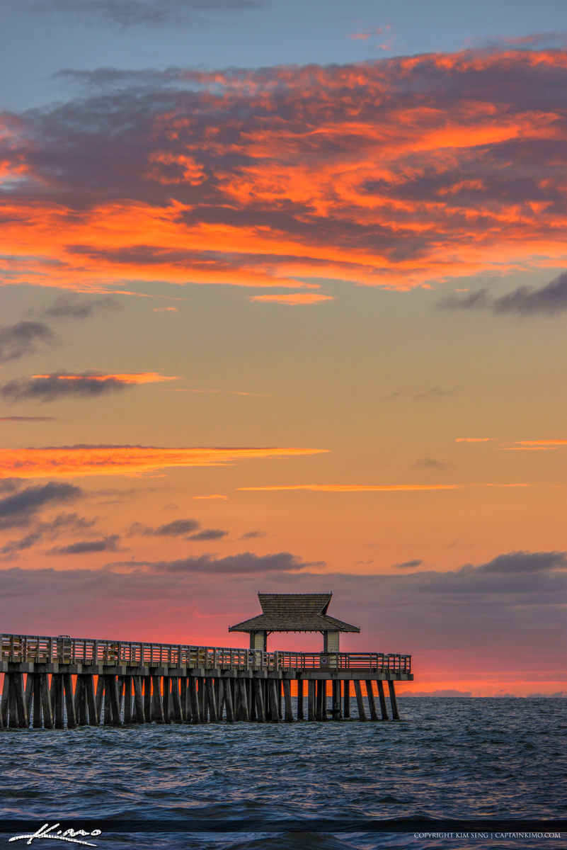 Naples Pier Beauitful Sunset