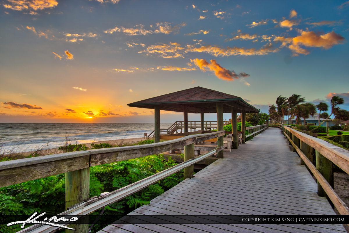 Vero Beach Jaycee Park Sunrise at Boardwalk