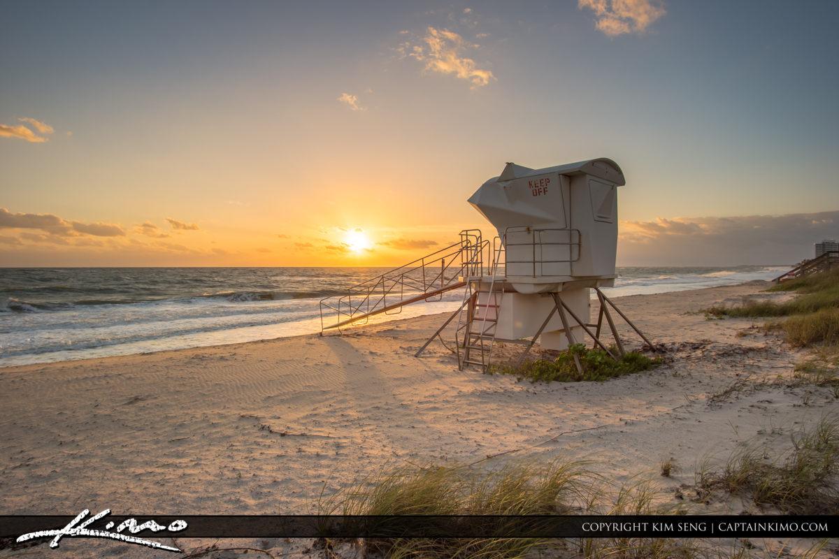 Vero Beach Jaycee Park with Lifeguard Tower Sunrise