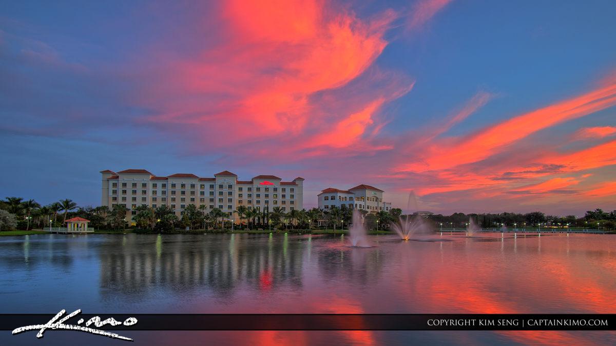 Palm Beach Gardens Downtown Pink Clouds