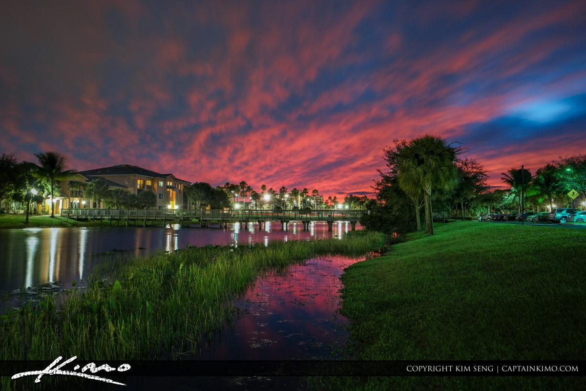 Neighborhood Colors After Sunset Palm Beach Gardens