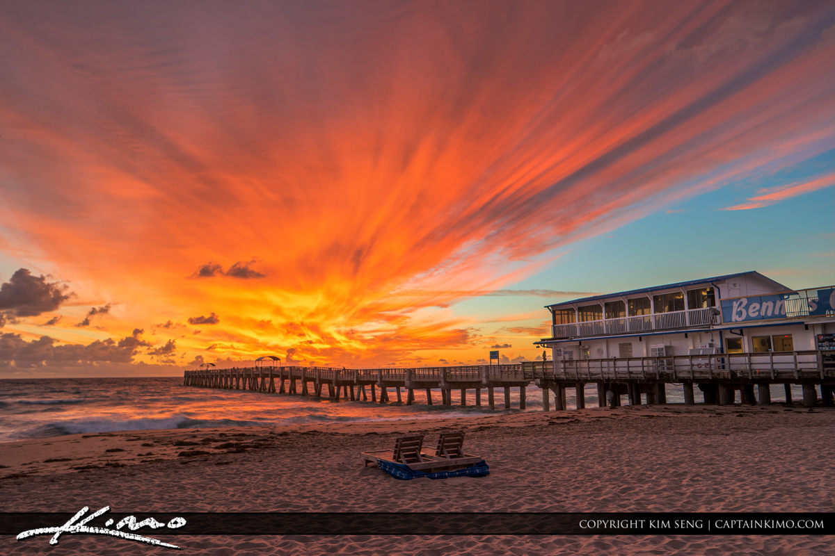 Lake Worth Pier Explosive Colors at Sunrise