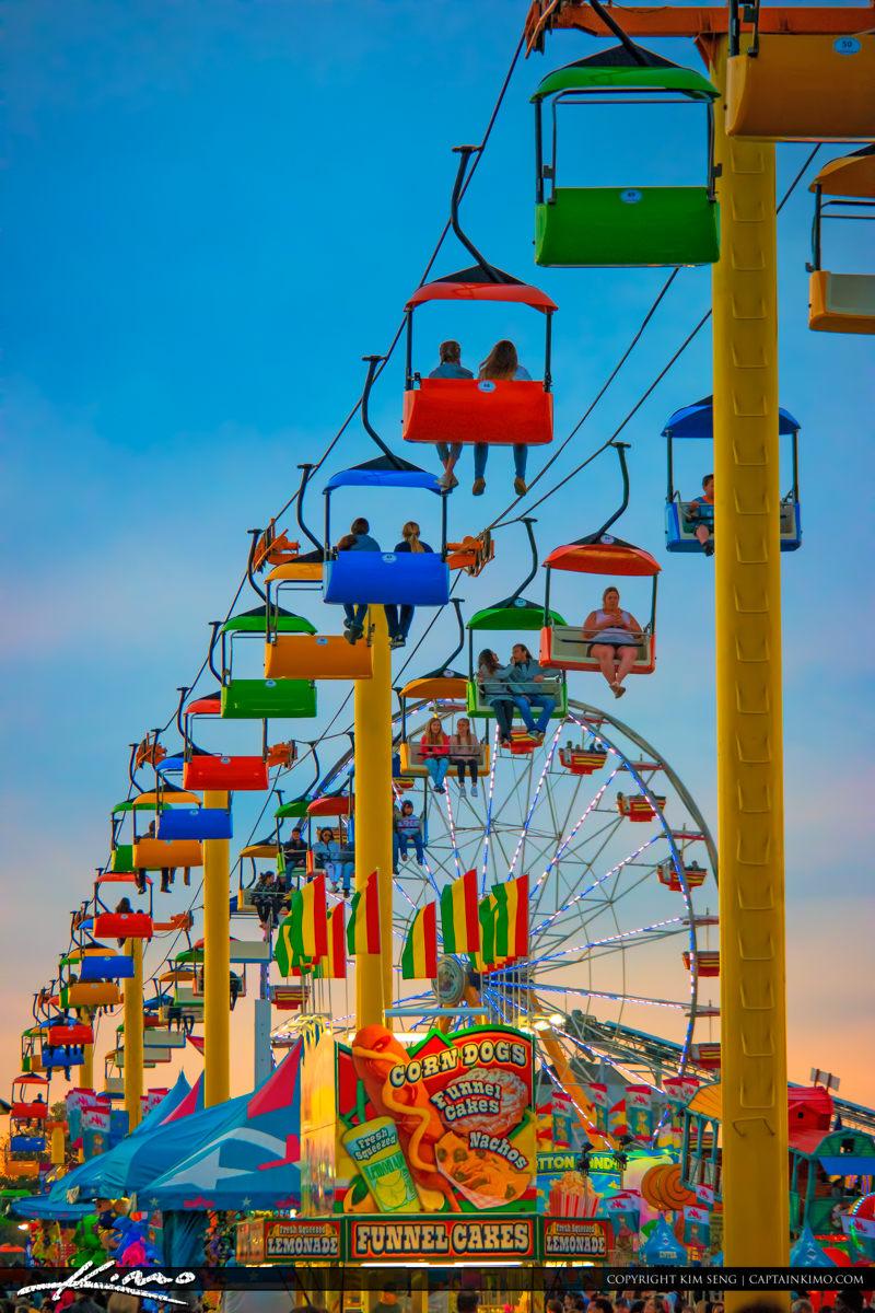 South Florida Fair 2016 Bright Colored Rides