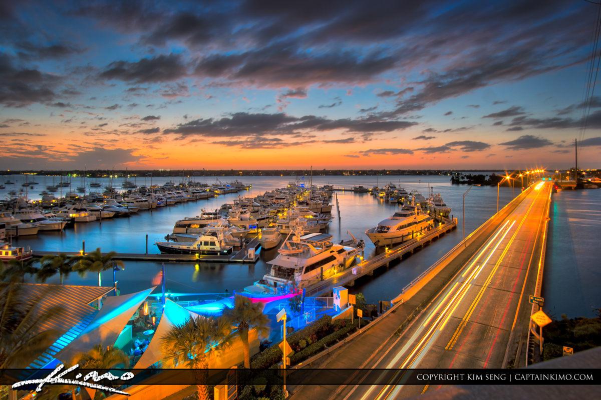 After Sunset Roosevelt Bridge Marina View
