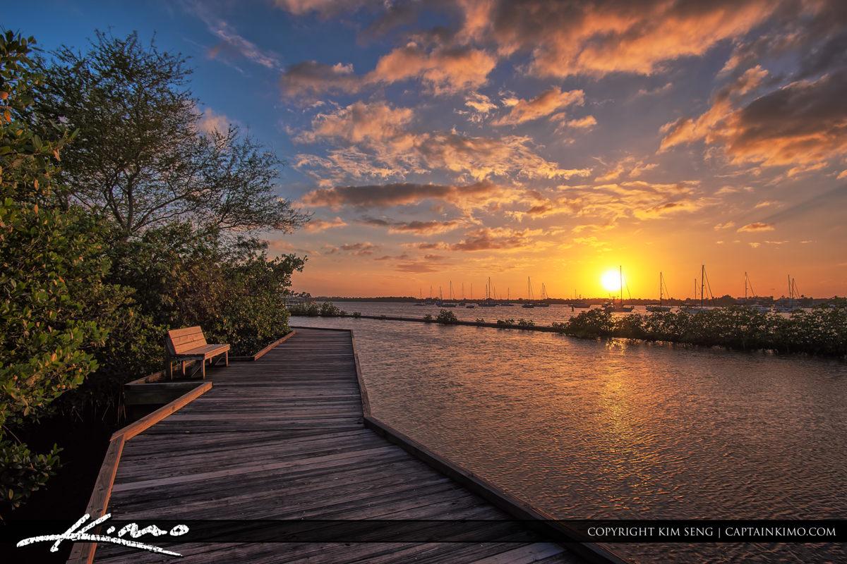 Boardwalk at Shepard Park Stuart Florida Sunset