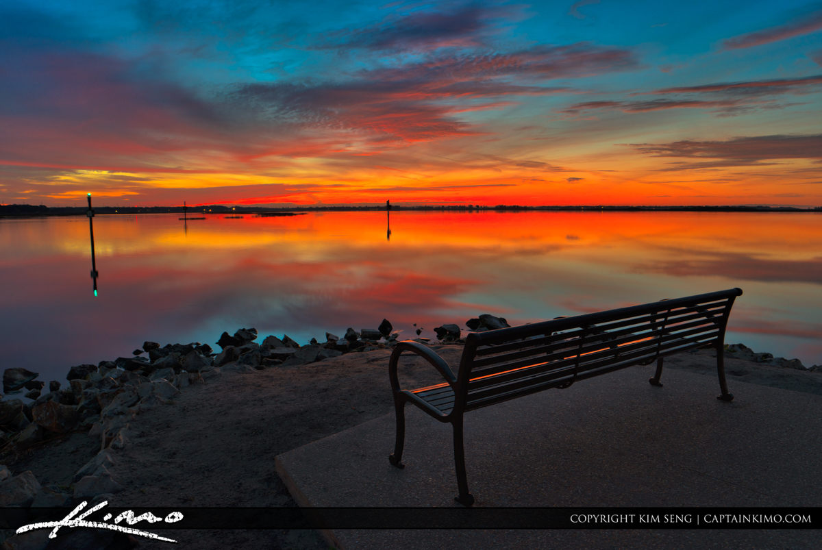 Kissimmee Lakefront Park Watching Sunrise