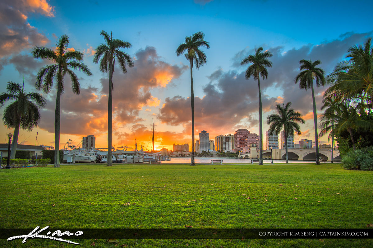West Palm Beach Sunset Palm Beach Island
