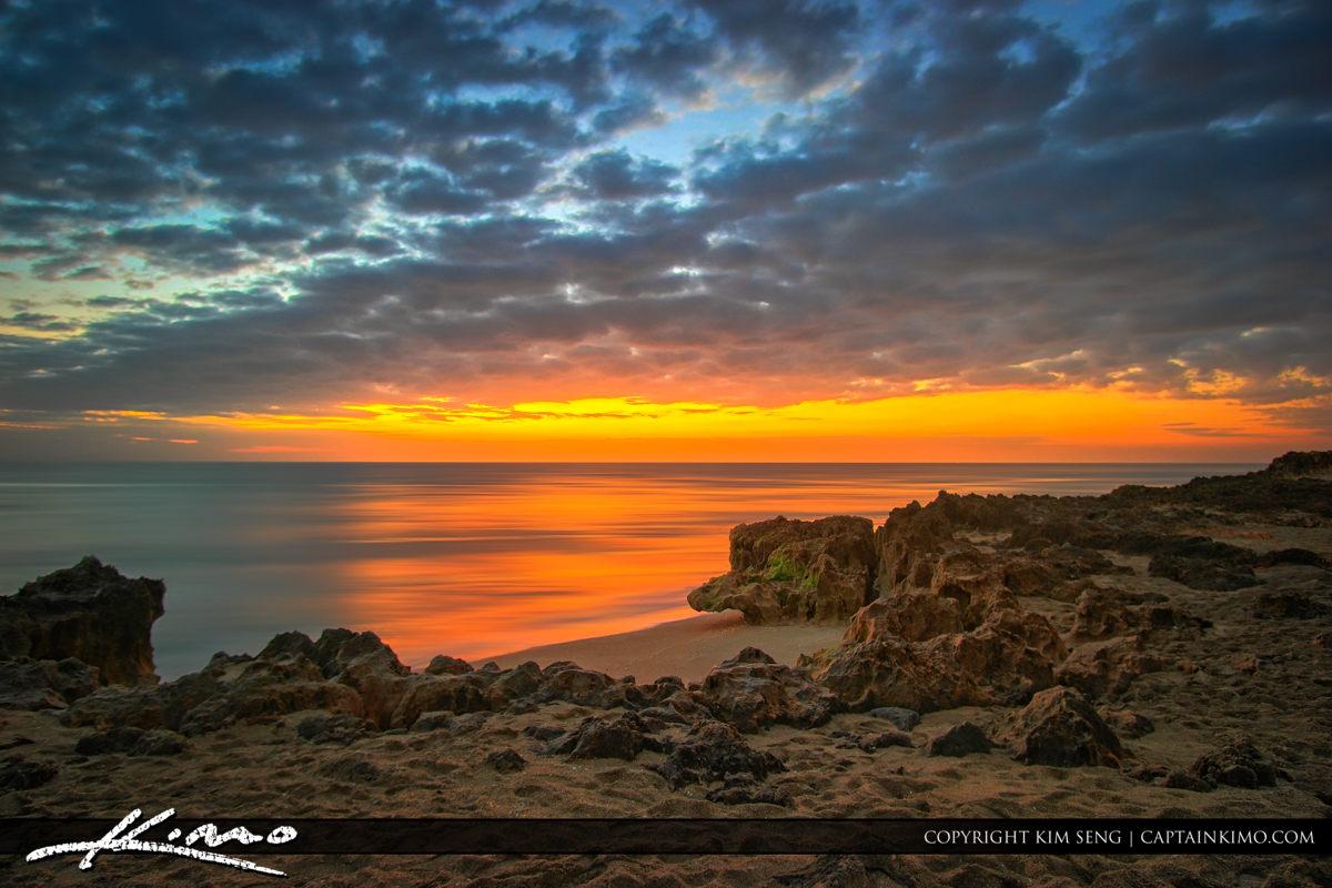 Sunrise Beach at Hutchinson Island Florida