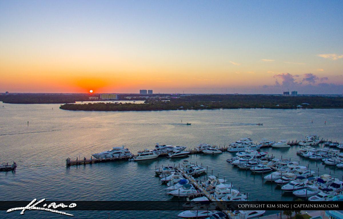 Haulover Park Florida Boats at Marina