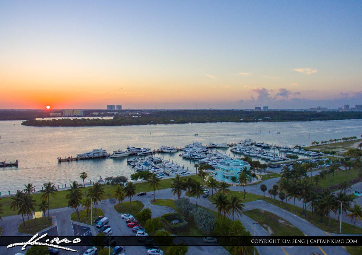 Haulover Park Florida Sunset at Marina