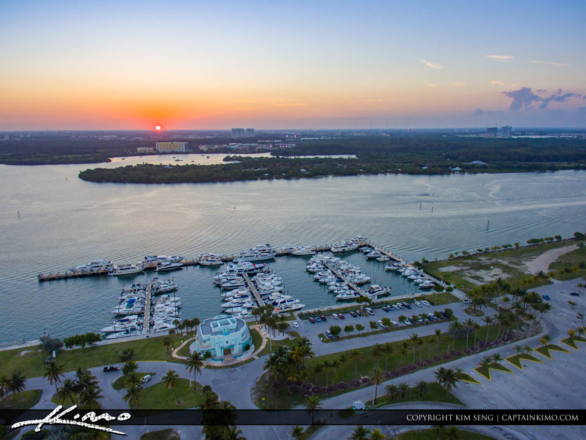 Haulover Park Florida Marina View from Above