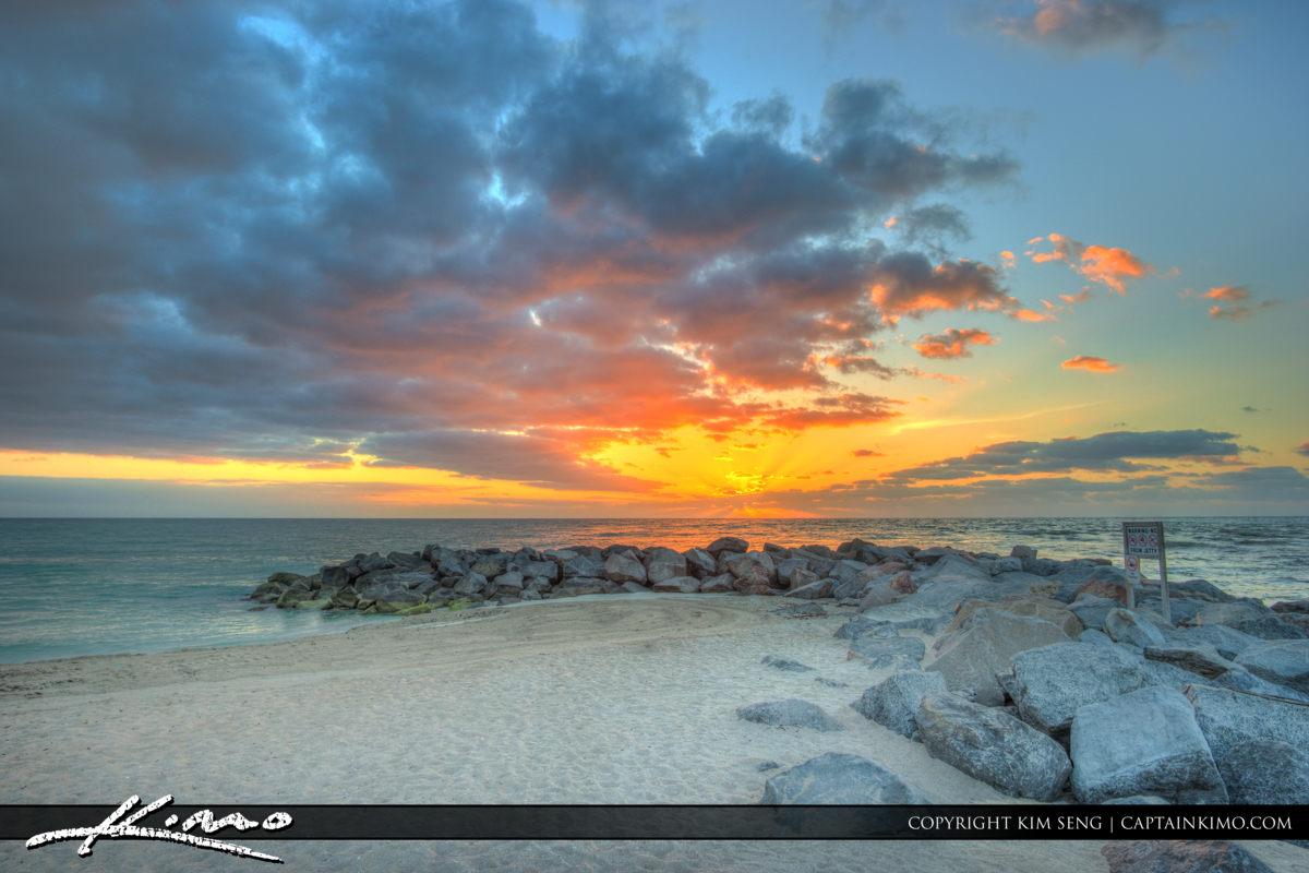 Haulover Park Florida Sunrise at the Jetty