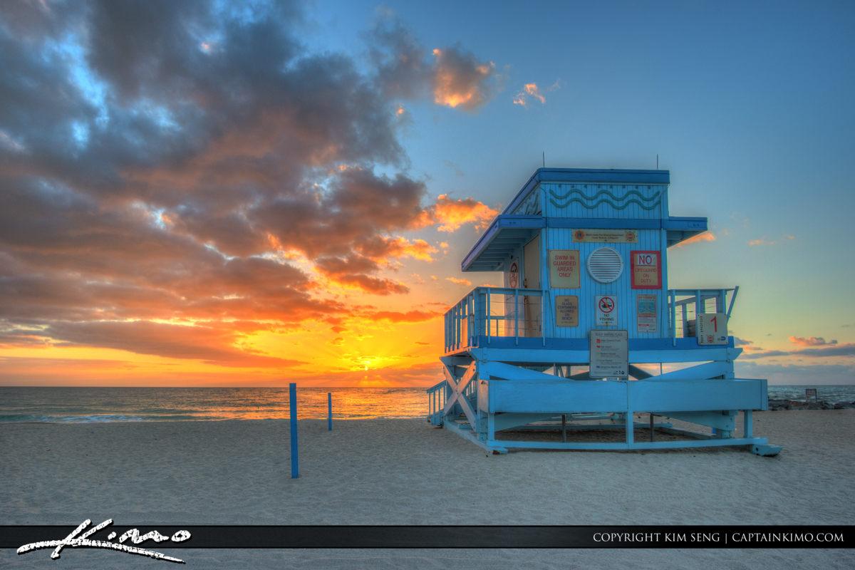 Haulover Park Florida Warm Sunrise at Beach