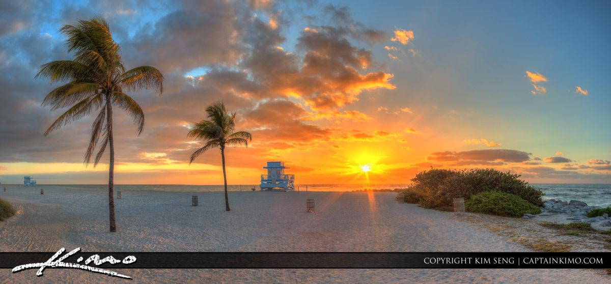 Haulover Park Florida Beach Panorama Sunrise