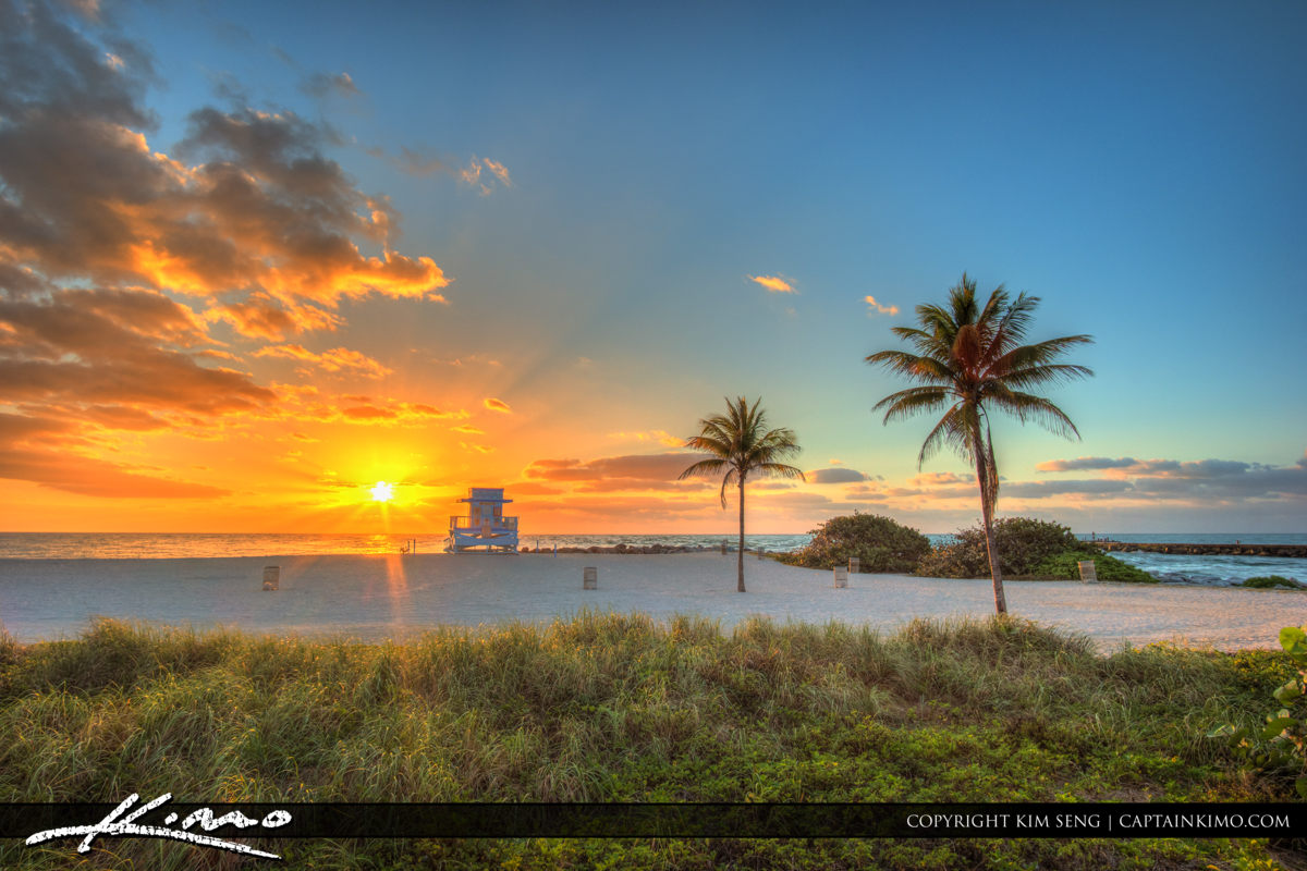 Haulover Park Florida Sunrise Over the Inlet