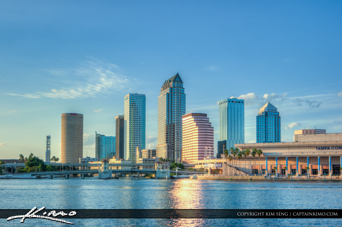 Tampa Florida Downtown City Skyline