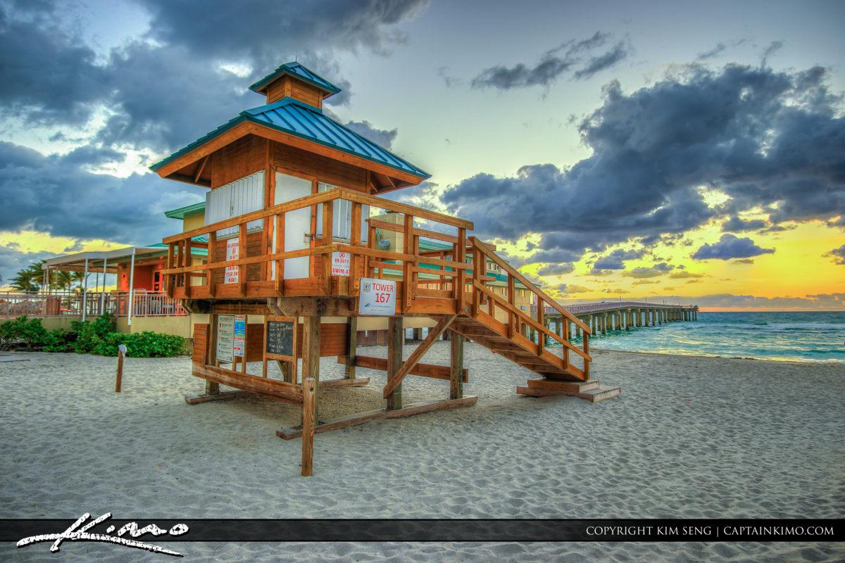 Sunny Isles Florida Pier Lifeguard Tower