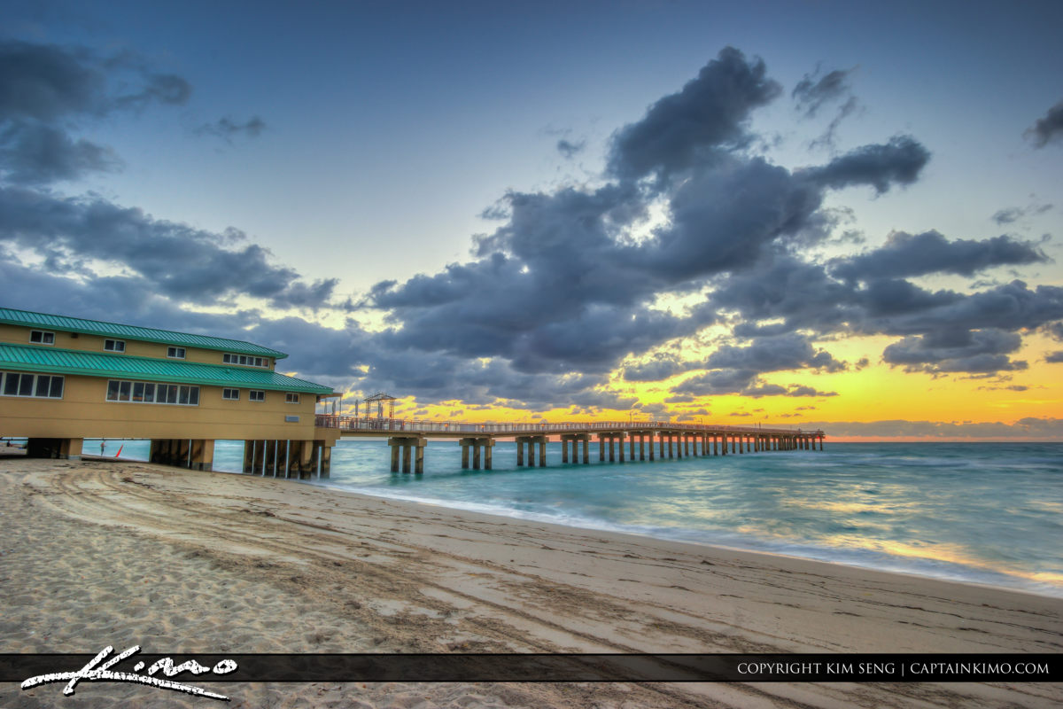 Sunny Isles Florida Along the Beach at Sunrise