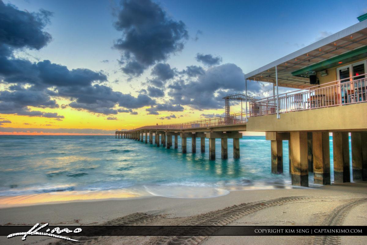 Sunny Isles Beach Florida at Fishing Pier