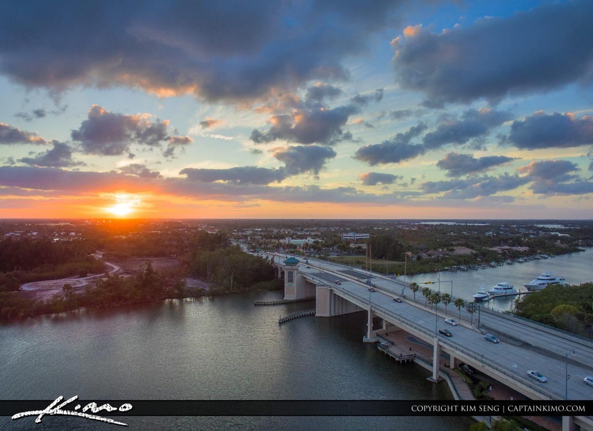 Sunset Indiantown Road Bridge Jupiter Florida