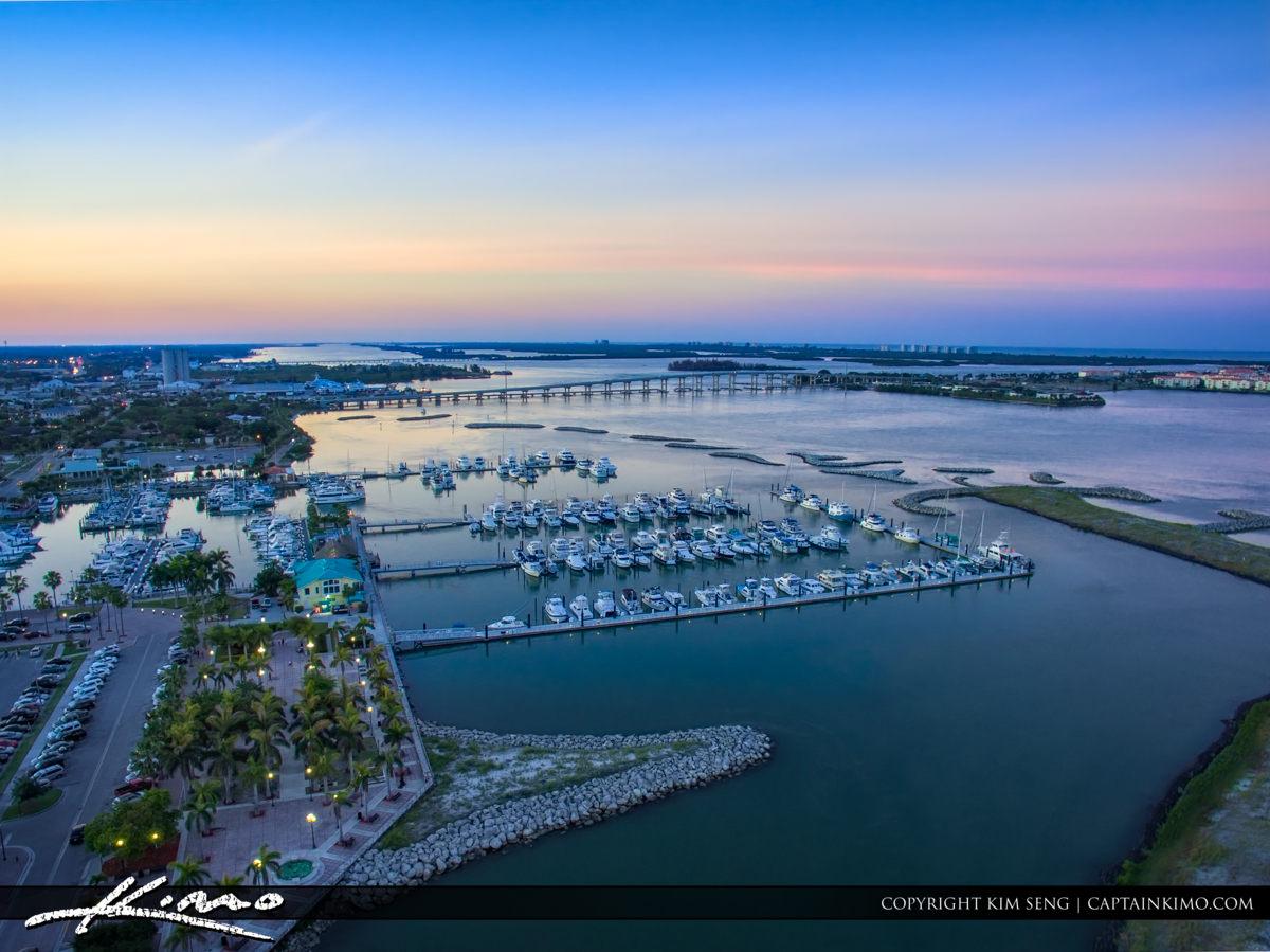 Fort Pierce Marina Purple Skies