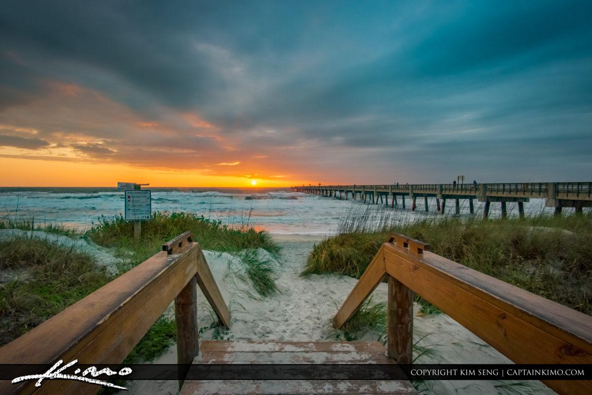 Jacksonville Beach Pier Florida Sunrise