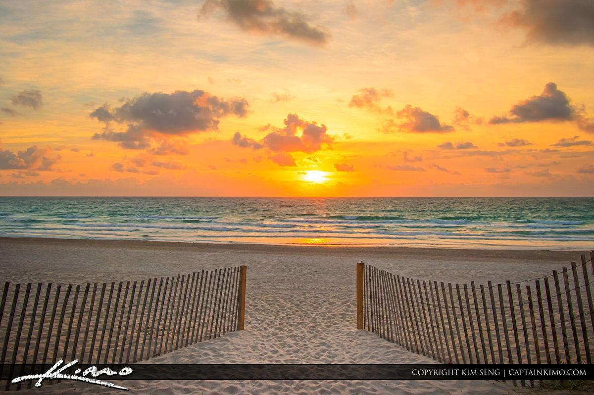 Miami Beach South Pointe Park Inlet Sunrise