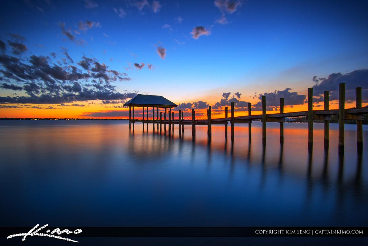 Pier at Hutchinson Island During Sunset at Stuart Florida