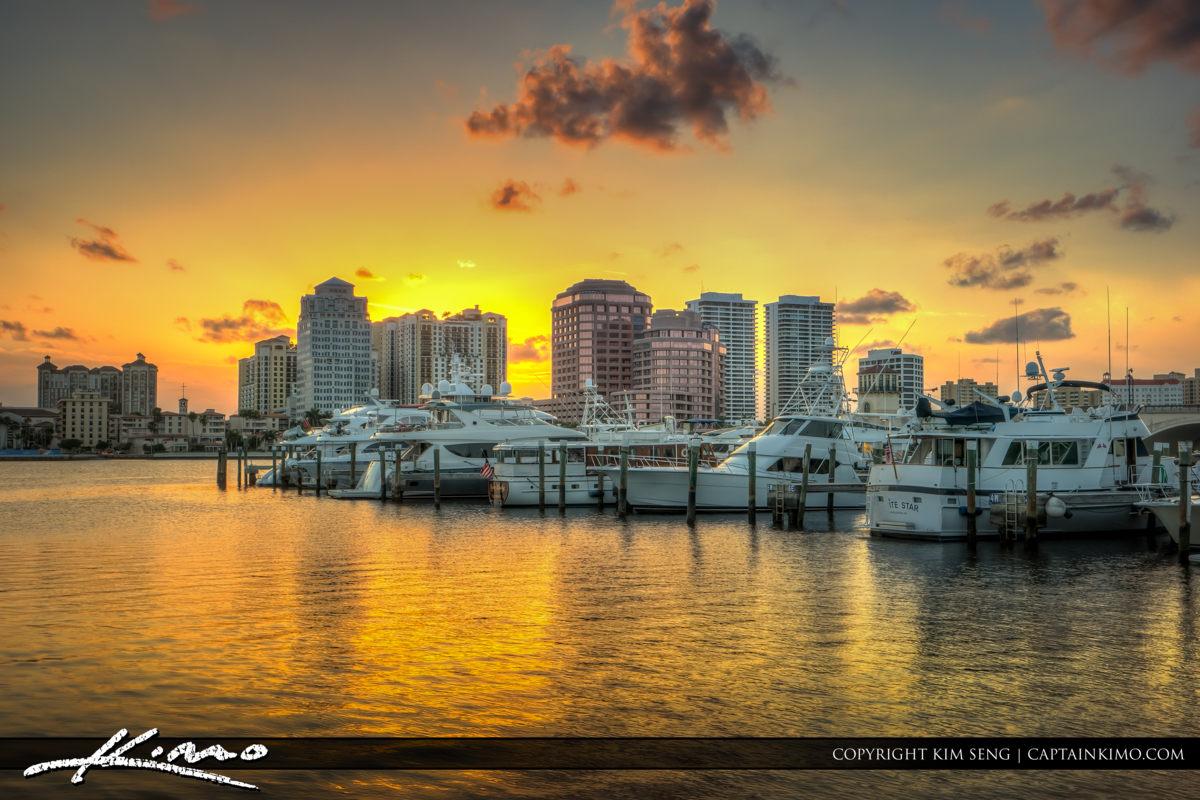 West Palm Beach Intense Sunset