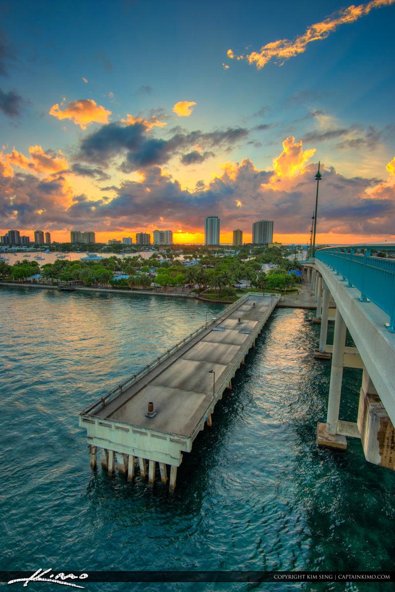Phil Foster Park Riviera Beach Sunrise from Blue Heron Bridge
