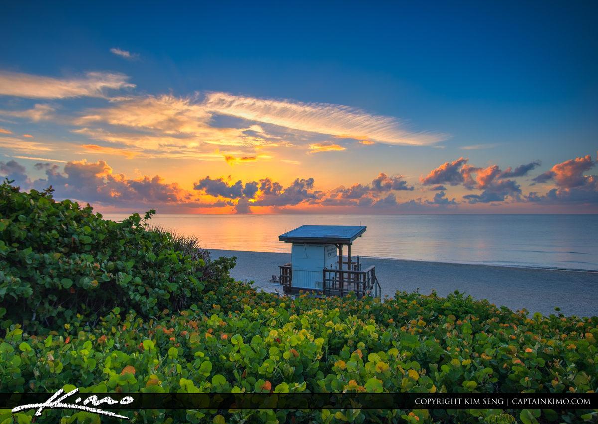 Oceanfront Park Beach Sunrise at Boynton Beach Florida