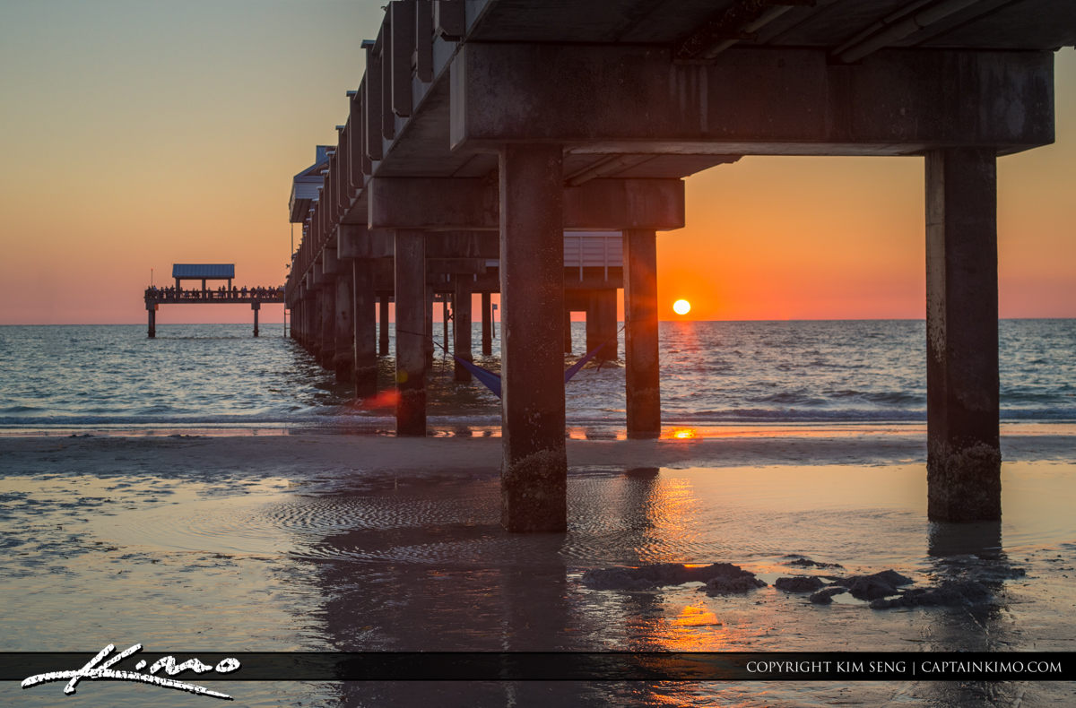Clearwater Pier Sunset Underneath the Pier