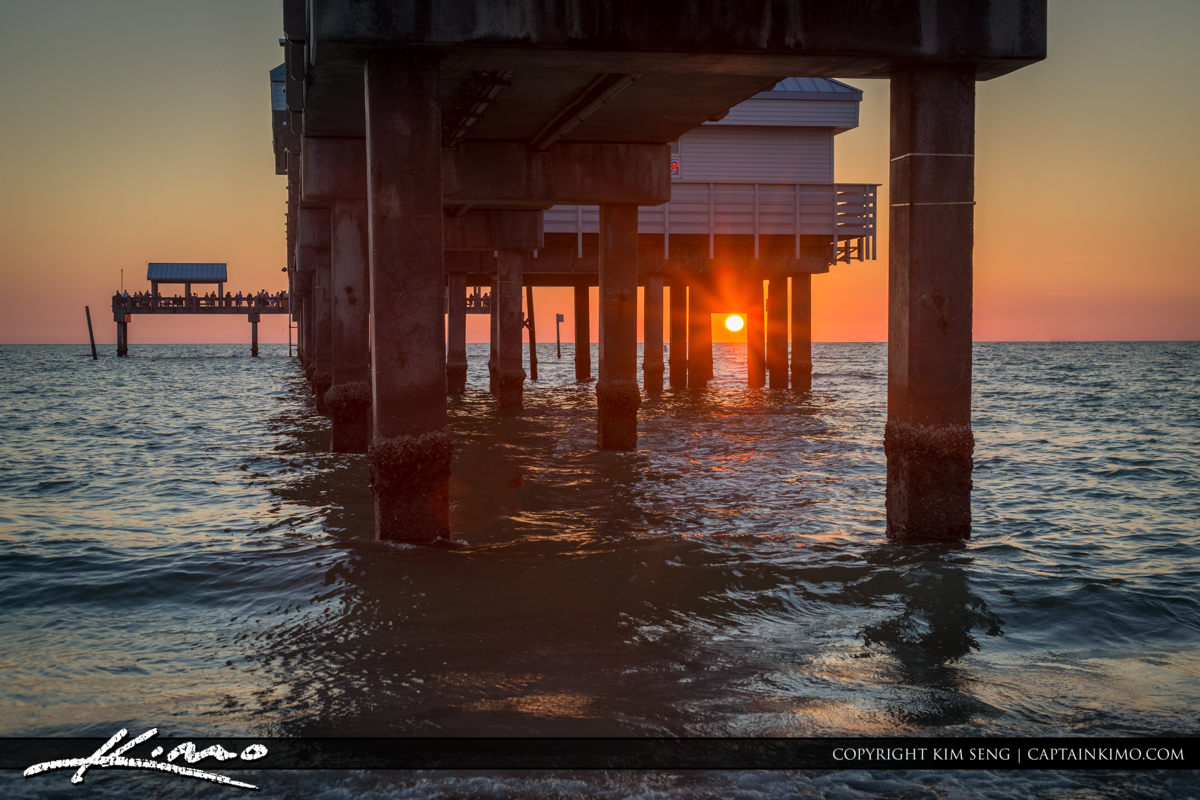 Clearwater Pier Sunset from Under the Pier