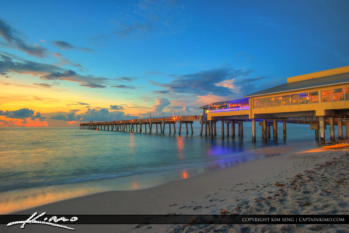 Dania Beach Pier Nice Colors and Clouds