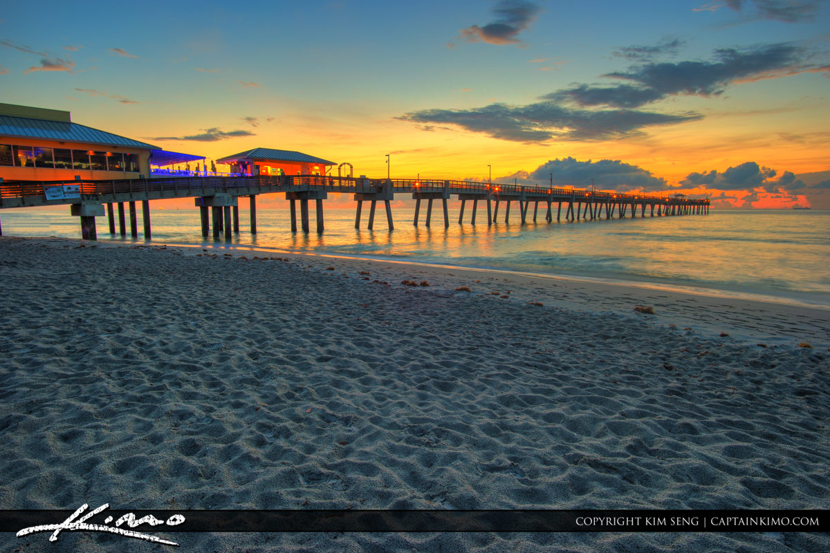 Dania Beach Pier Warm Morning Glow